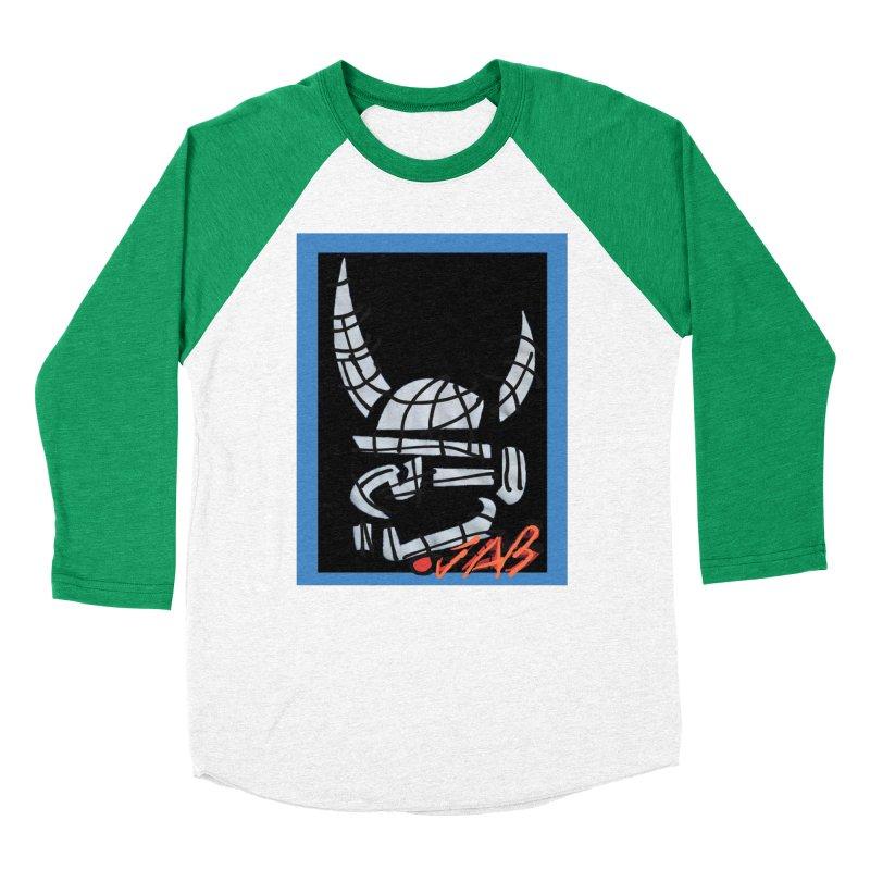 Jab Planet Men's Baseball Triblend Longsleeve T-Shirt by Mozayic's Artist Shop