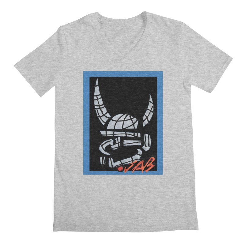 Jab Planet Men's Regular V-Neck by Mozayic's Artist Shop