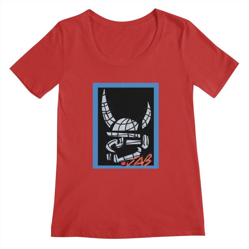 Jab Planet Women's Regular Scoop Neck by Mozayic's Artist Shop