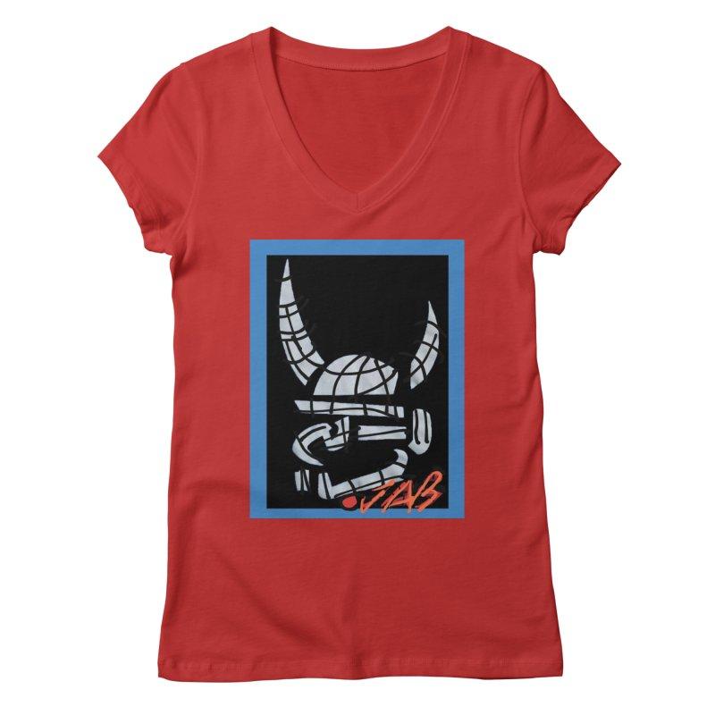 Jab Planet Women's Regular V-Neck by Mozayic's Artist Shop