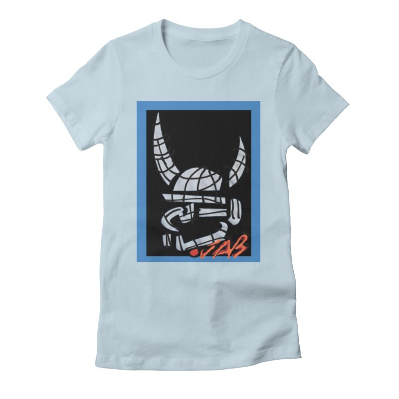 Jab Planet Women's Fitted T-Shirt by Mozayic's Artist Shop