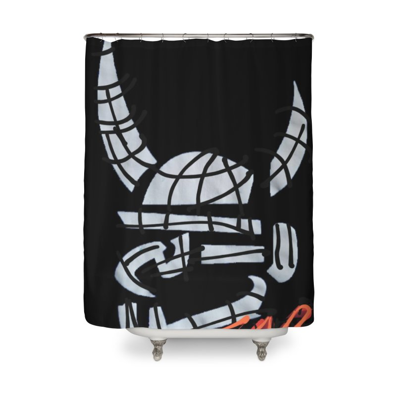 Jab Planet Home Shower Curtain by Mozayic's Artist Shop