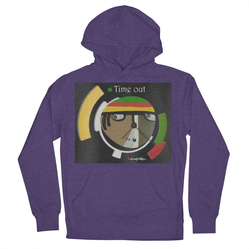 Time Out Women's French Terry Pullover Hoody by Mozayic's Artist Shop