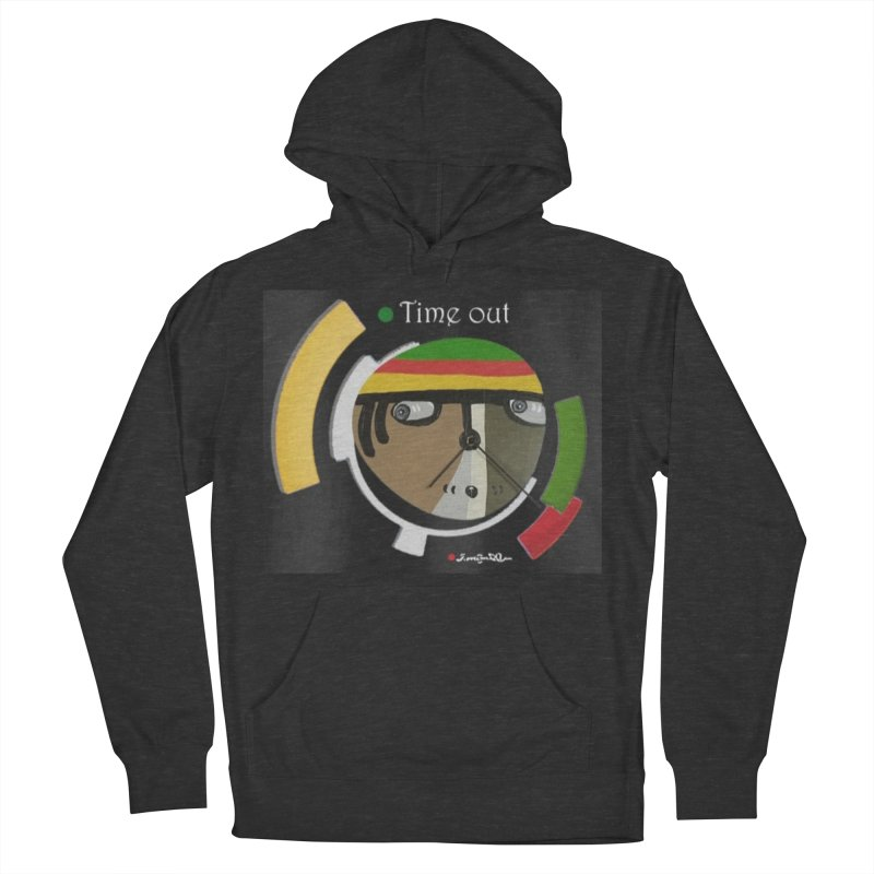 Time Out Men's French Terry Pullover Hoody by Mozayic's Artist Shop