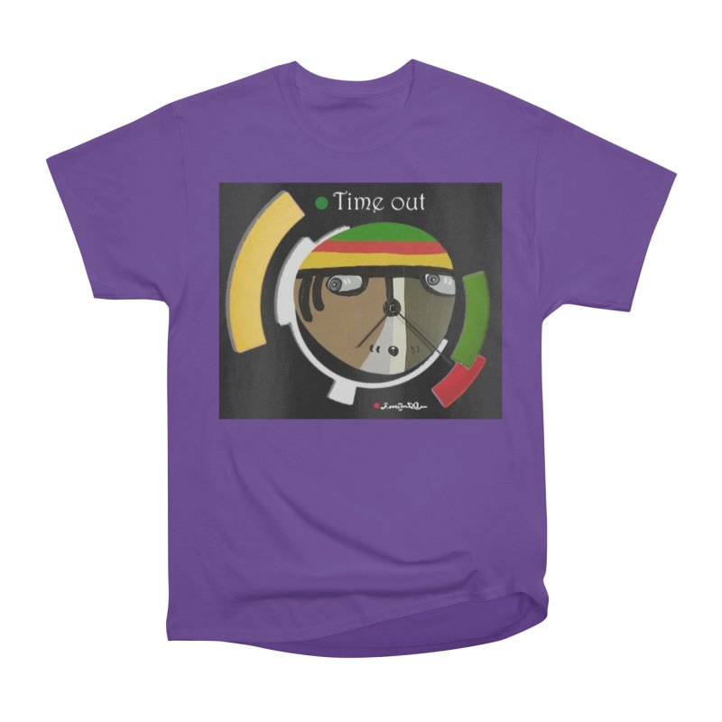 Time Out Men's Heavyweight T-Shirt by Mozayic's Artist Shop