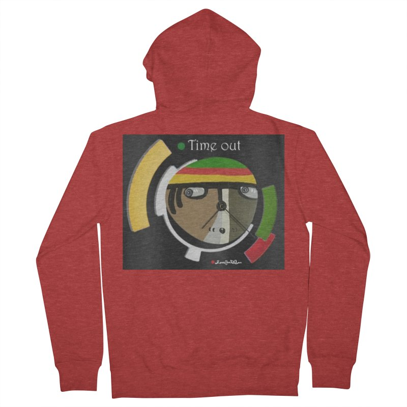 Time Out Women's French Terry Zip-Up Hoody by Mozayic's Artist Shop