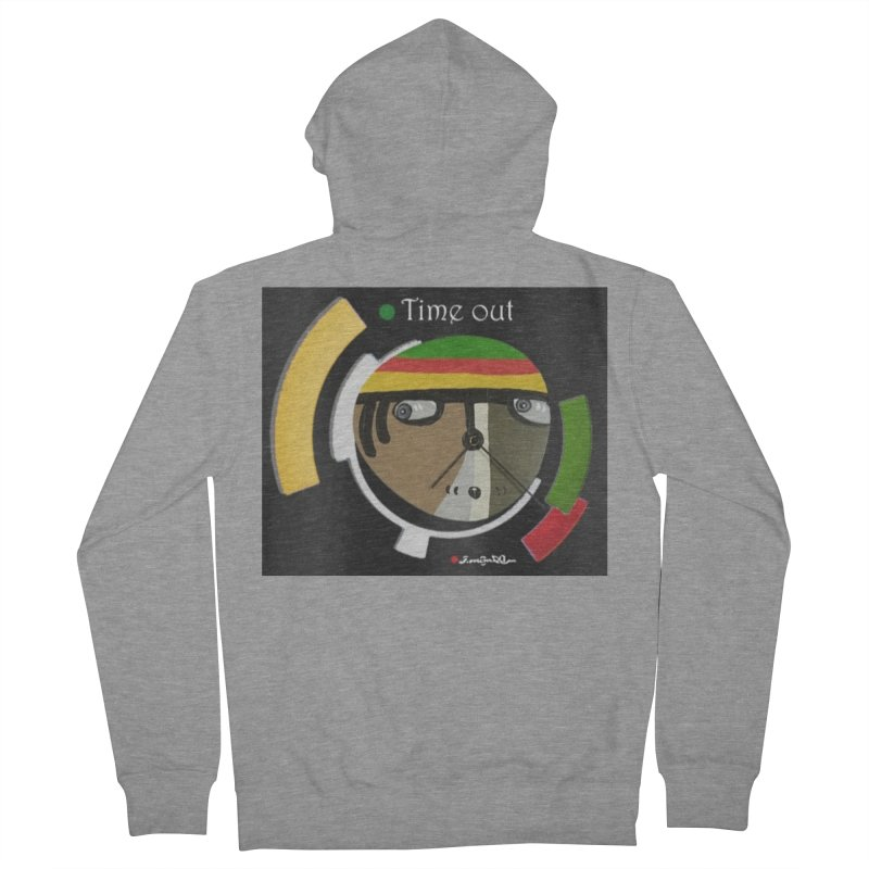 Time Out Men's French Terry Zip-Up Hoody by Mozayic's Artist Shop
