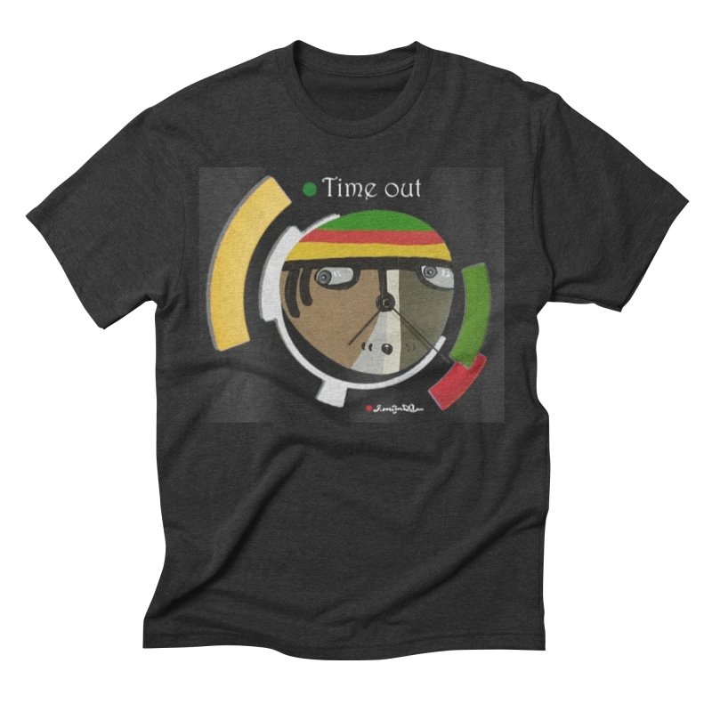 Time Out Men's Triblend T-Shirt by Mozayic's Artist Shop