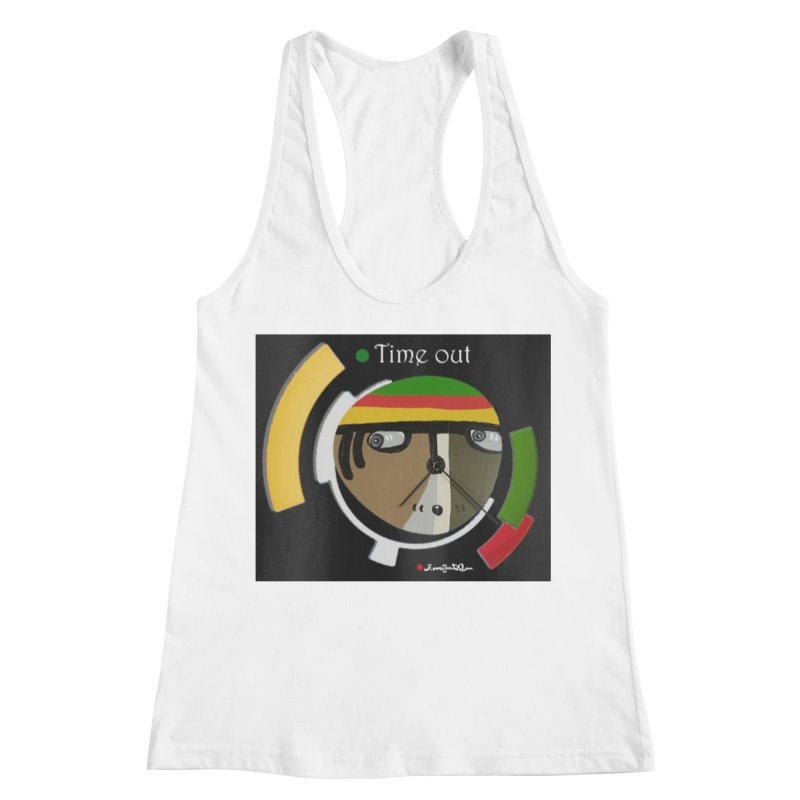 Time Out Women's Racerback Tank by Mozayic's Artist Shop