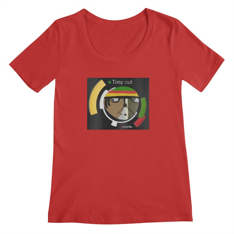 Time Out Women's Regular Scoop Neck by Mozayic's Artist Shop