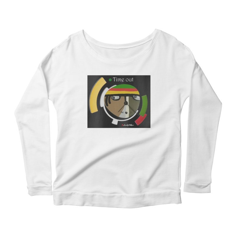 Time Out Women's Scoop Neck Longsleeve T-Shirt by Mozayic's Artist Shop