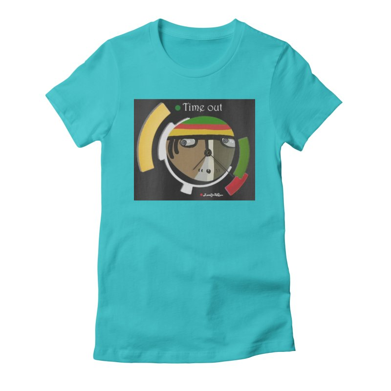 Time Out Women's Fitted T-Shirt by Mozayic's Artist Shop
