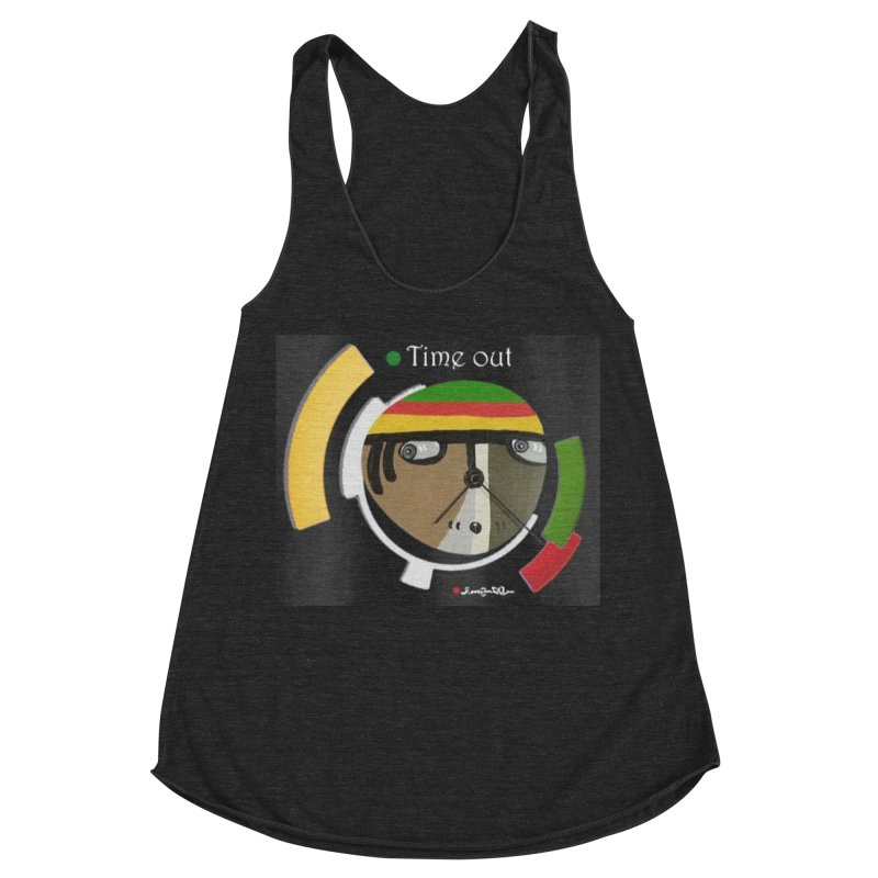 Time Out Women's Racerback Triblend Tank by Mozayic's Artist Shop