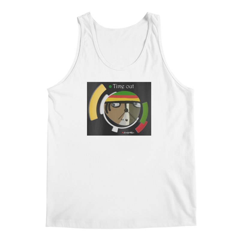 Time Out Men's Regular Tank by Mozayic's Artist Shop