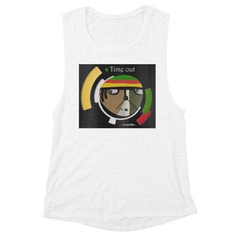 Time Out Women's Muscle Tank by Mozayic's Artist Shop