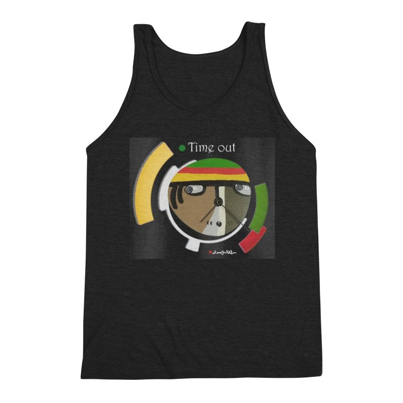 Time Out Men's Triblend Tank by Mozayic's Artist Shop