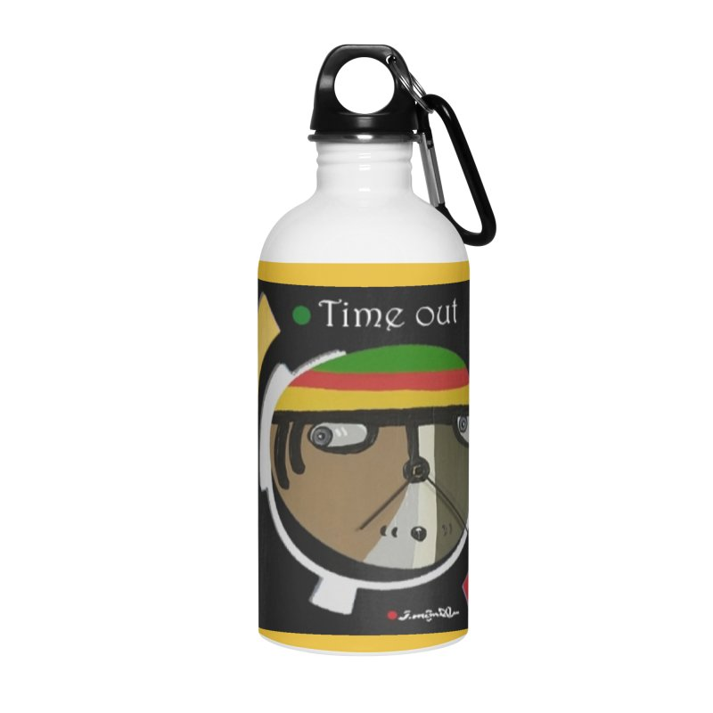 Time Out Accessories Water Bottle by Mozayic's Artist Shop