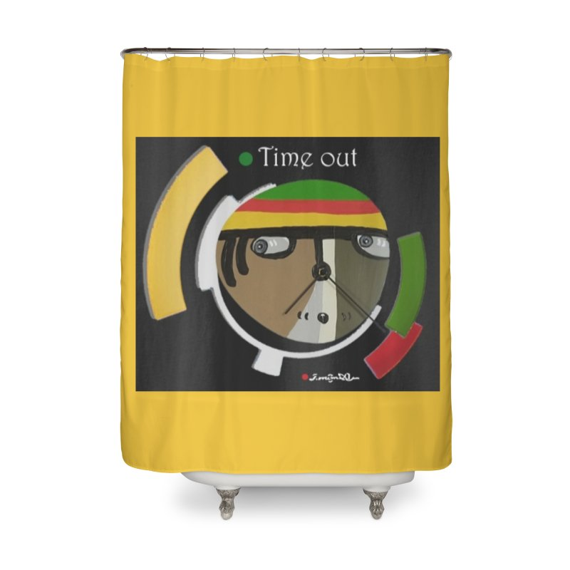 Time Out Home Shower Curtain by Mozayic's Artist Shop