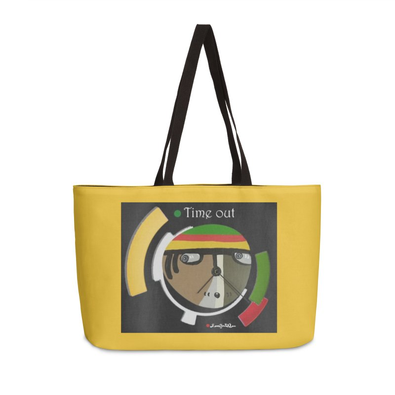 Time Out Accessories Weekender Bag Bag by Mozayic's Artist Shop