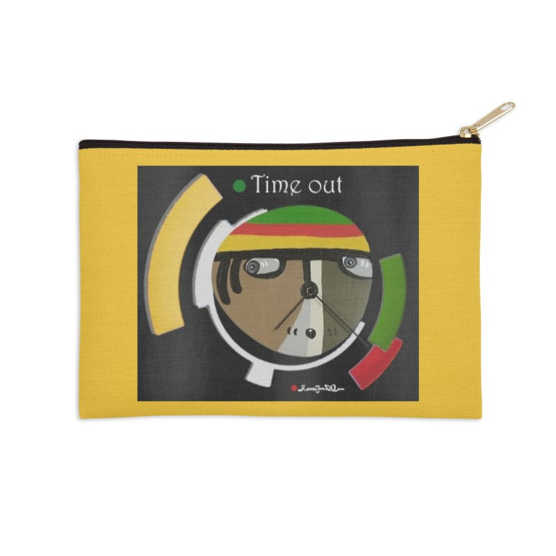 Time Out Accessories Zip Pouch by Mozayic's Artist Shop