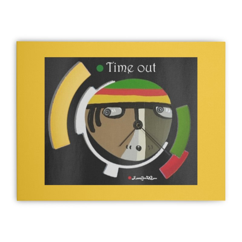 Time Out Home Stretched Canvas by Mozayic's Artist Shop
