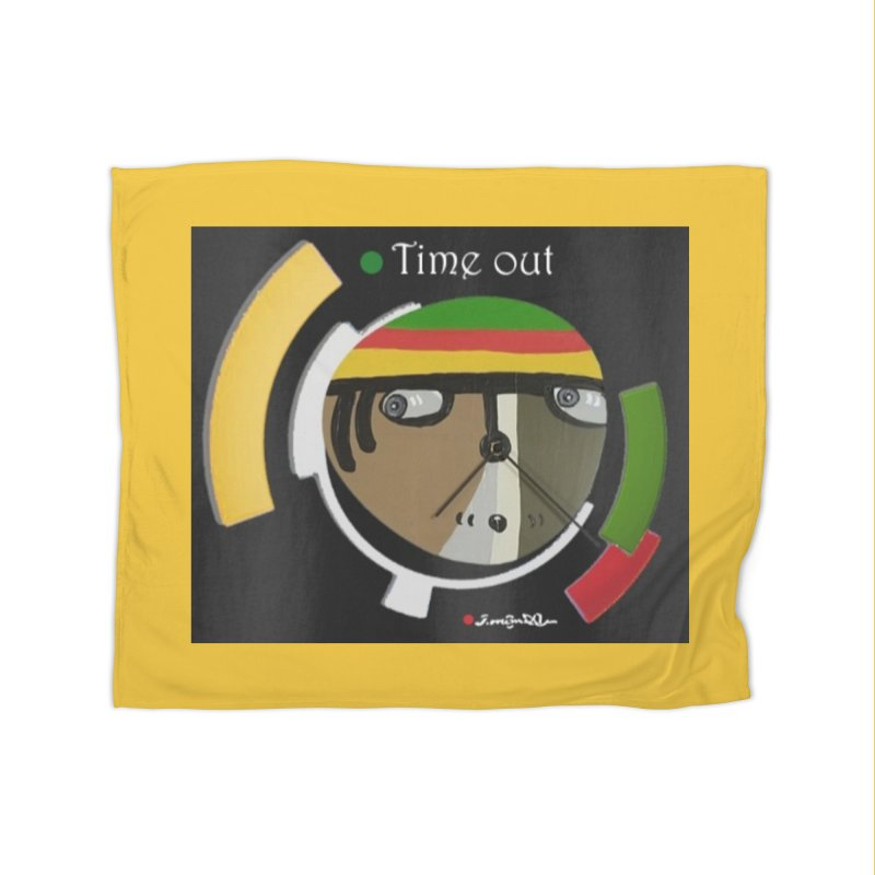 Time Out Home Fleece Blanket Blanket by Mozayic's Artist Shop
