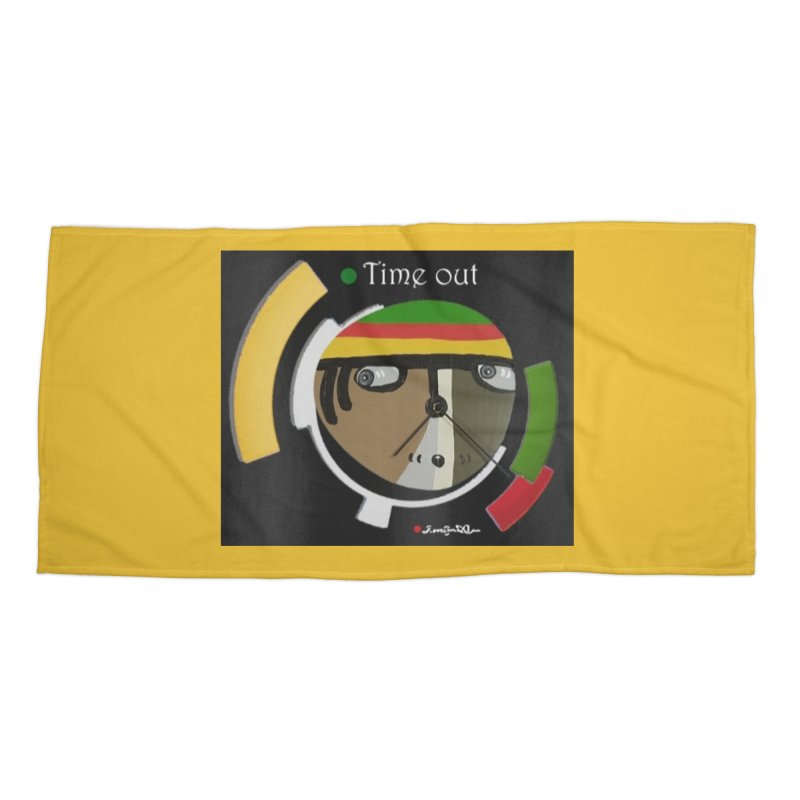 Time Out Accessories Beach Towel by Mozayic's Artist Shop