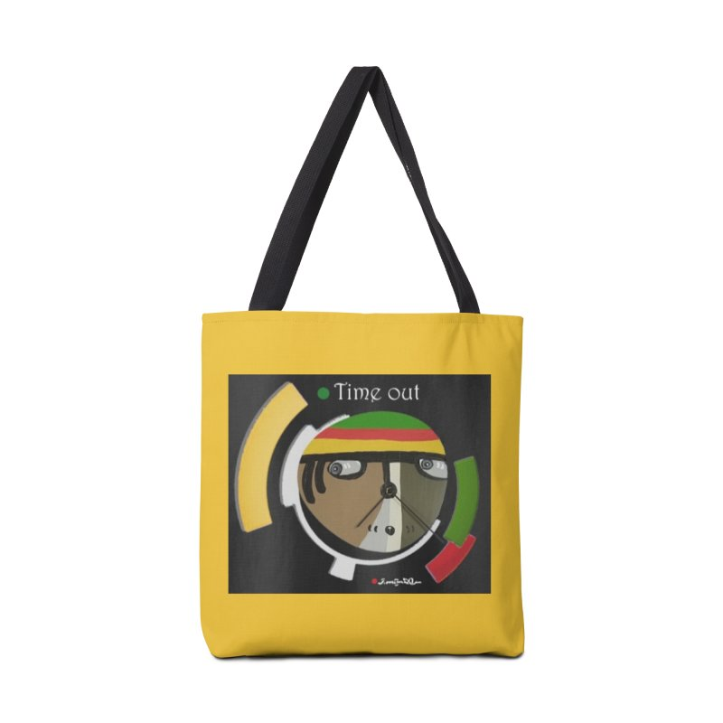 Time Out Accessories Tote Bag Bag by Mozayic's Artist Shop