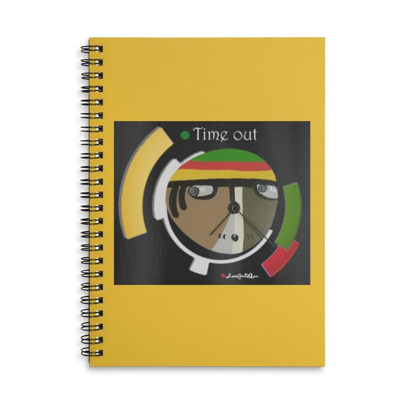 Time Out Accessories Lined Spiral Notebook by Mozayic's Artist Shop