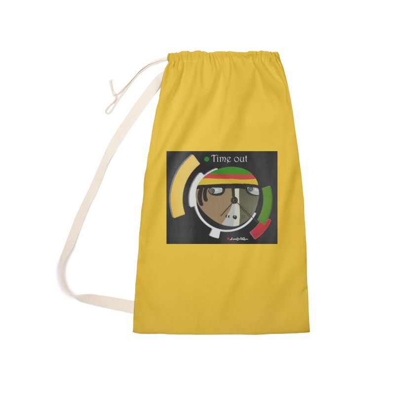 Time Out Accessories Laundry Bag Bag by Mozayic's Artist Shop