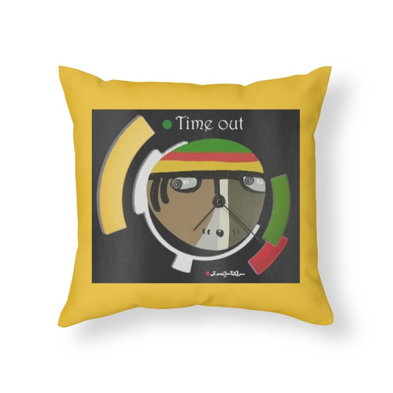Time Out Home Throw Pillow by Mozayic's Artist Shop