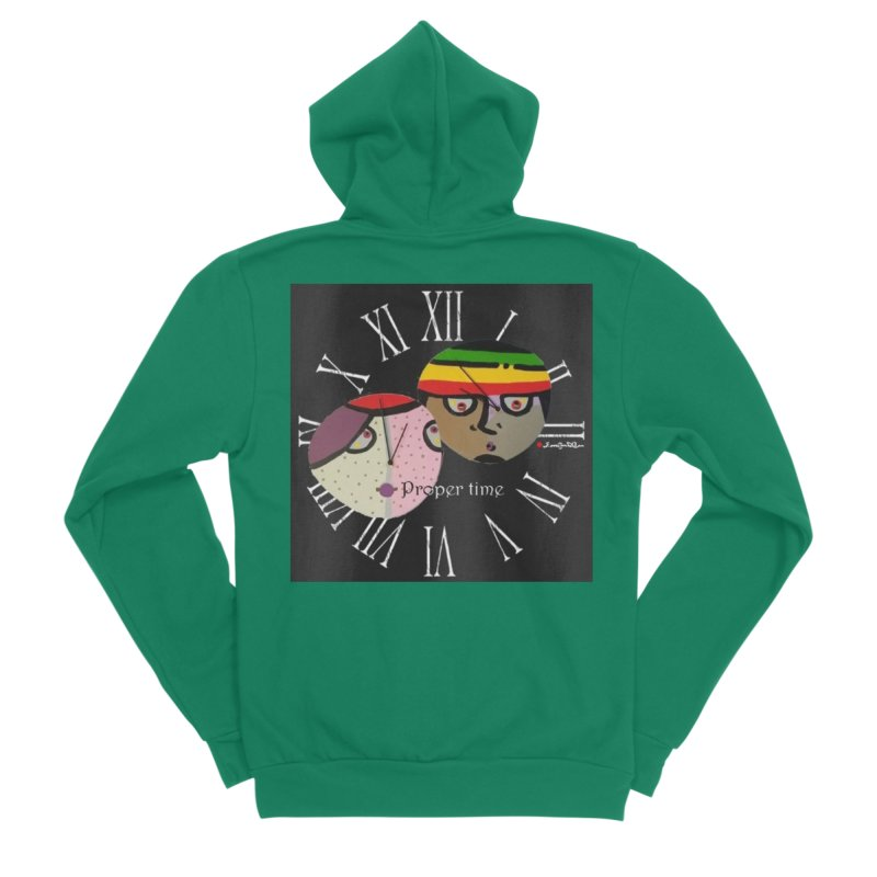 Time Men's Sponge Fleece Zip-Up Hoody by Mozayic's Artist Shop
