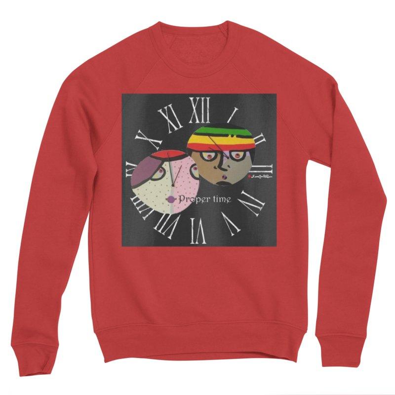 Time Women's Sponge Fleece Sweatshirt by Mozayic's Artist Shop