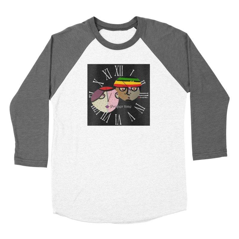 Time Women's Baseball Triblend Longsleeve T-Shirt by Mozayic's Artist Shop