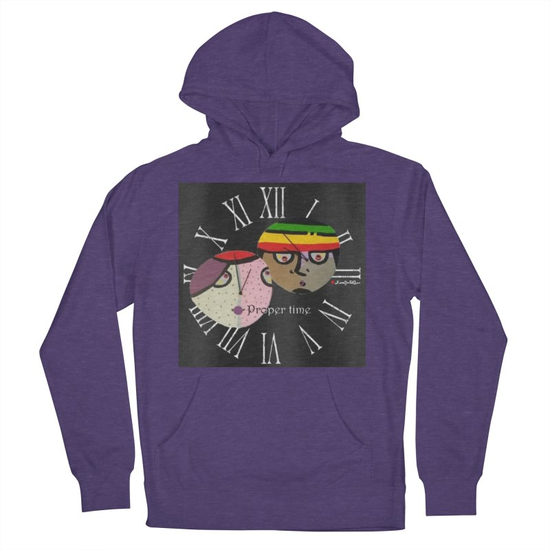 Time Men's French Terry Pullover Hoody by Mozayic's Artist Shop