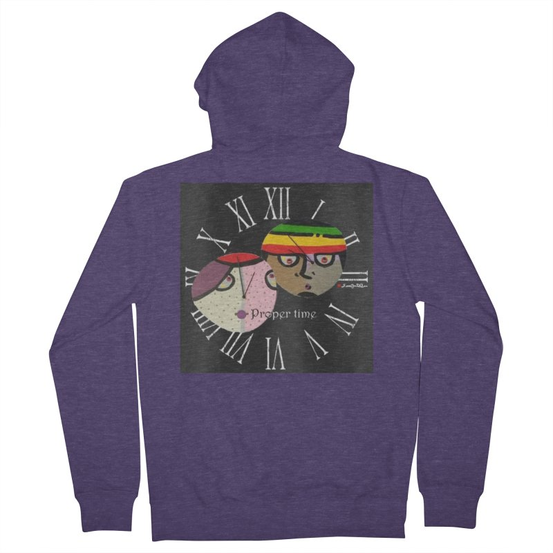 Time Men's French Terry Zip-Up Hoody by Mozayic's Artist Shop