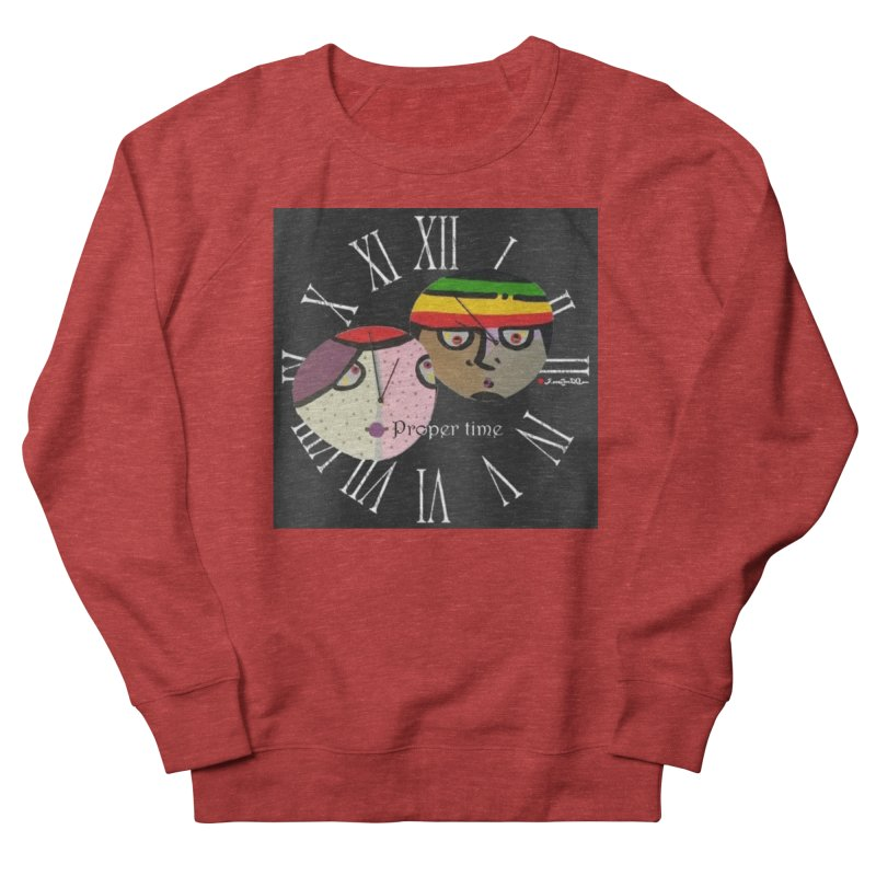 Time Men's French Terry Sweatshirt by Mozayic's Artist Shop