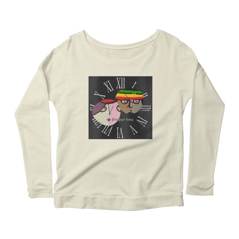 Time Women's Scoop Neck Longsleeve T-Shirt by Mozayic's Artist Shop