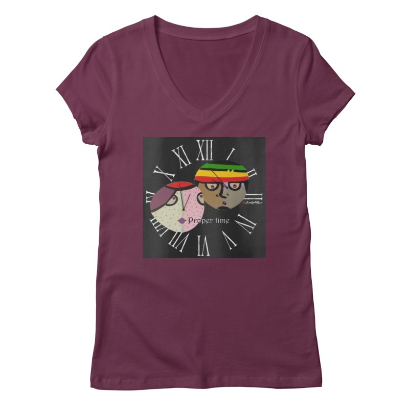 Time Women's Regular V-Neck by Mozayic's Artist Shop