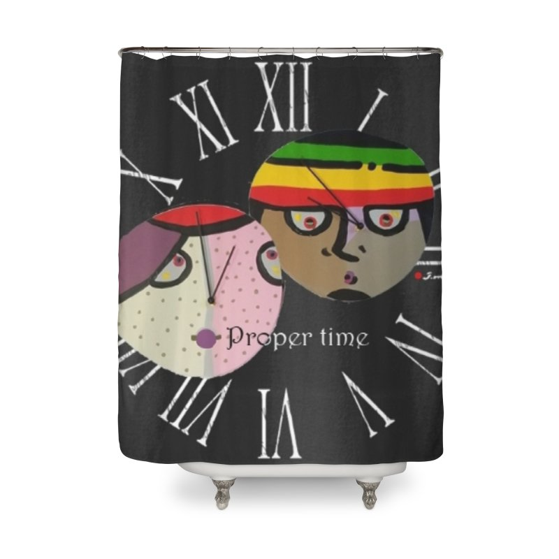Time Home Shower Curtain by Mozayic's Artist Shop