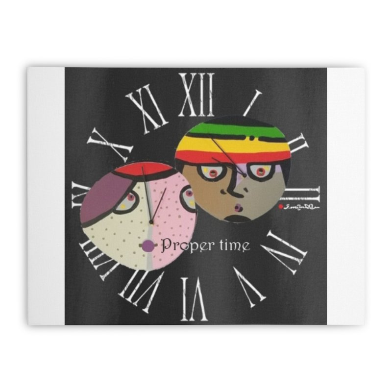 Time Home Stretched Canvas by Mozayic's Artist Shop