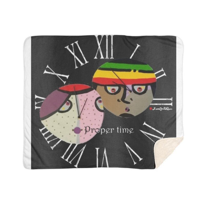 Time Home Sherpa Blanket Blanket by Mozayic's Artist Shop
