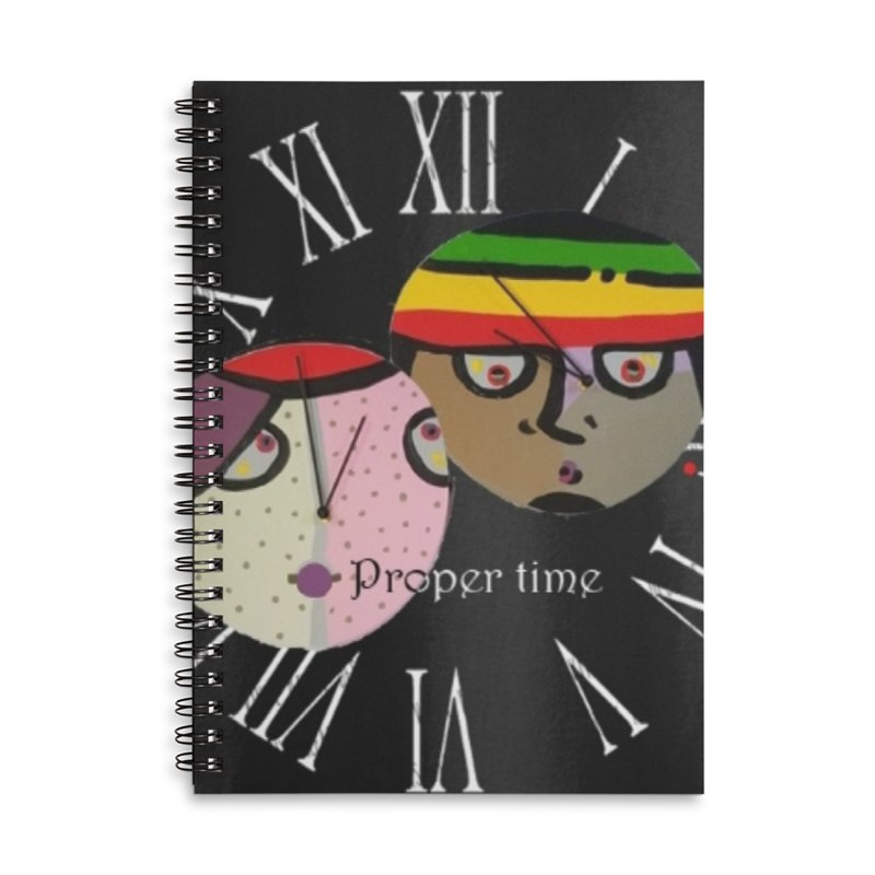 Time Accessories Lined Spiral Notebook by Mozayic's Artist Shop