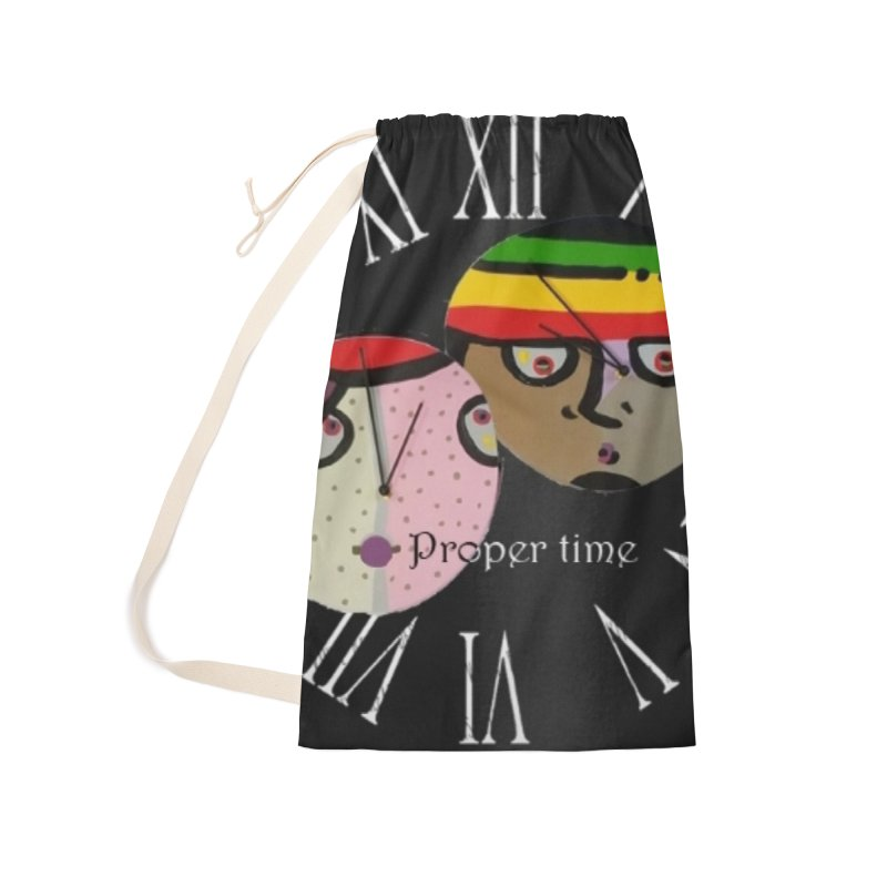 Time Accessories Laundry Bag Bag by Mozayic's Artist Shop