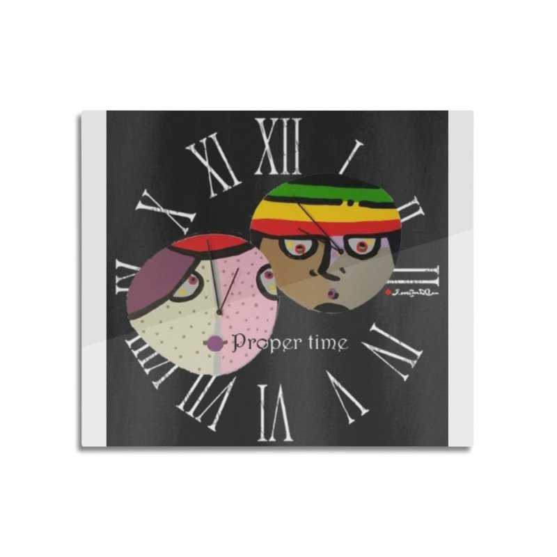 Time Home Mounted Aluminum Print by Mozayic's Artist Shop