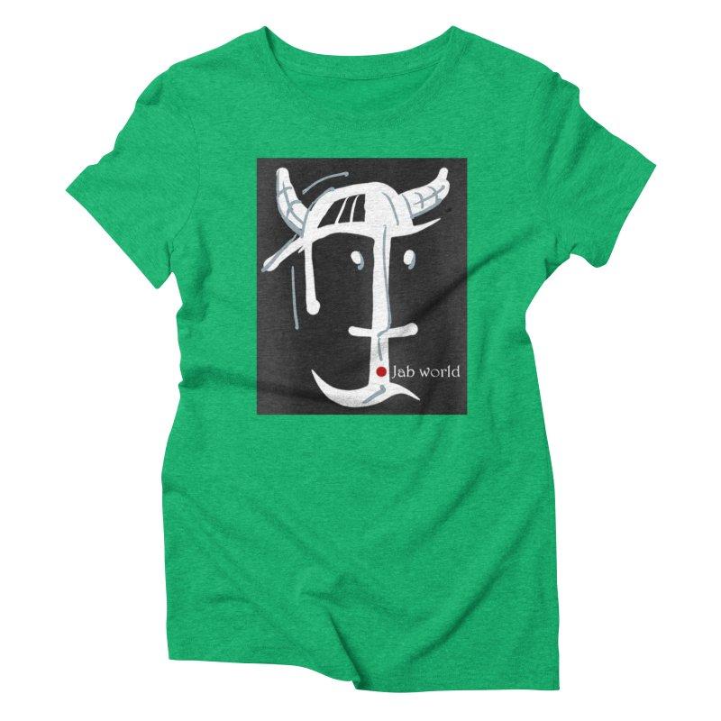 Jab Nation Women's Triblend T-Shirt by Mozayic's Artist Shop