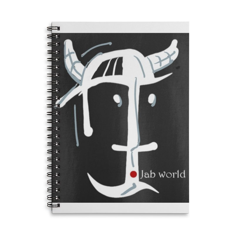 Jab Nation Accessories Lined Spiral Notebook by Mozayic's Artist Shop