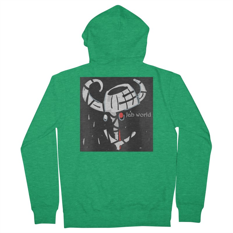 Jab Title Men's French Terry Zip-Up Hoody by Mozayic's Artist Shop