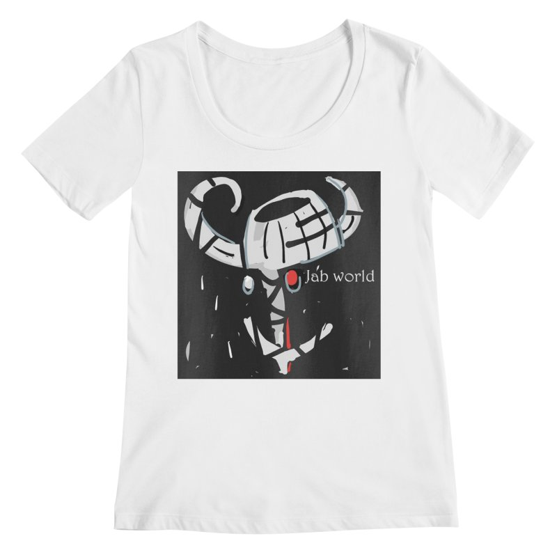 Jab Title Women's Regular Scoop Neck by Mozayic's Artist Shop