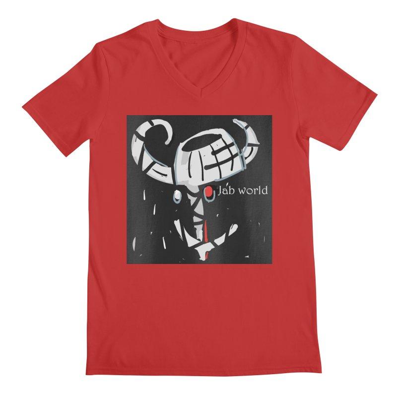 Jab Title Men's Regular V-Neck by Mozayic's Artist Shop